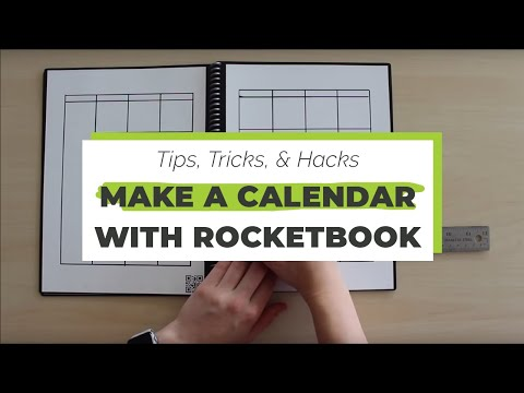graphic about Rocketbook Printable Pages known as Crank out a Calendar with Your Rocketbook Rocketbook Rules