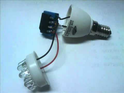 Lampada de LEDs caseira - YouTube