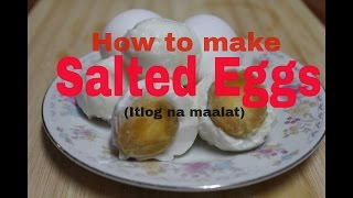 How to make Salted Eggs (Easy!)