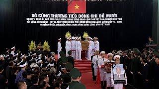Lễ truy điệu Nguyên Tổng Bí thư Đỗ Mười được cử hành trọng thể ở Hà Nội và TP. Hồ Chí Minh | Tin Mới