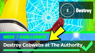 Destroy Cobwebs at The Authority & Cobweb Locations - Fortnite Week 7 Challenges