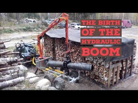 ATV trailer hydraulic boom project