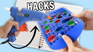 7 GLUE GUN LIFE HACKS + DIYS for BACK TO SCHOOL!