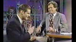 Crispin Glover on Letterman 1990