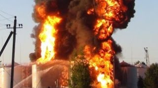 СМОТРЕТЬ ВСЕМ! Пожар на киевской нефтебазе сваливают на воров и диверсантов! Украина, Киев, Новости,