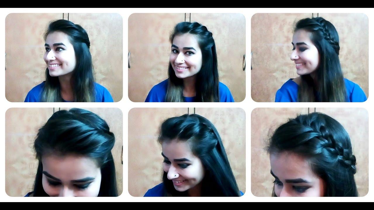 three cute open hair hairstyles for short/ medium / long hair