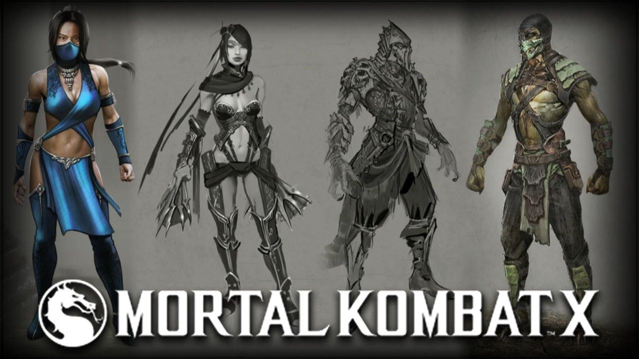 Mortal Kombat X Kitana \u0026 Reptile Alternate Skins, \u0026 Concept Art! , YouTube