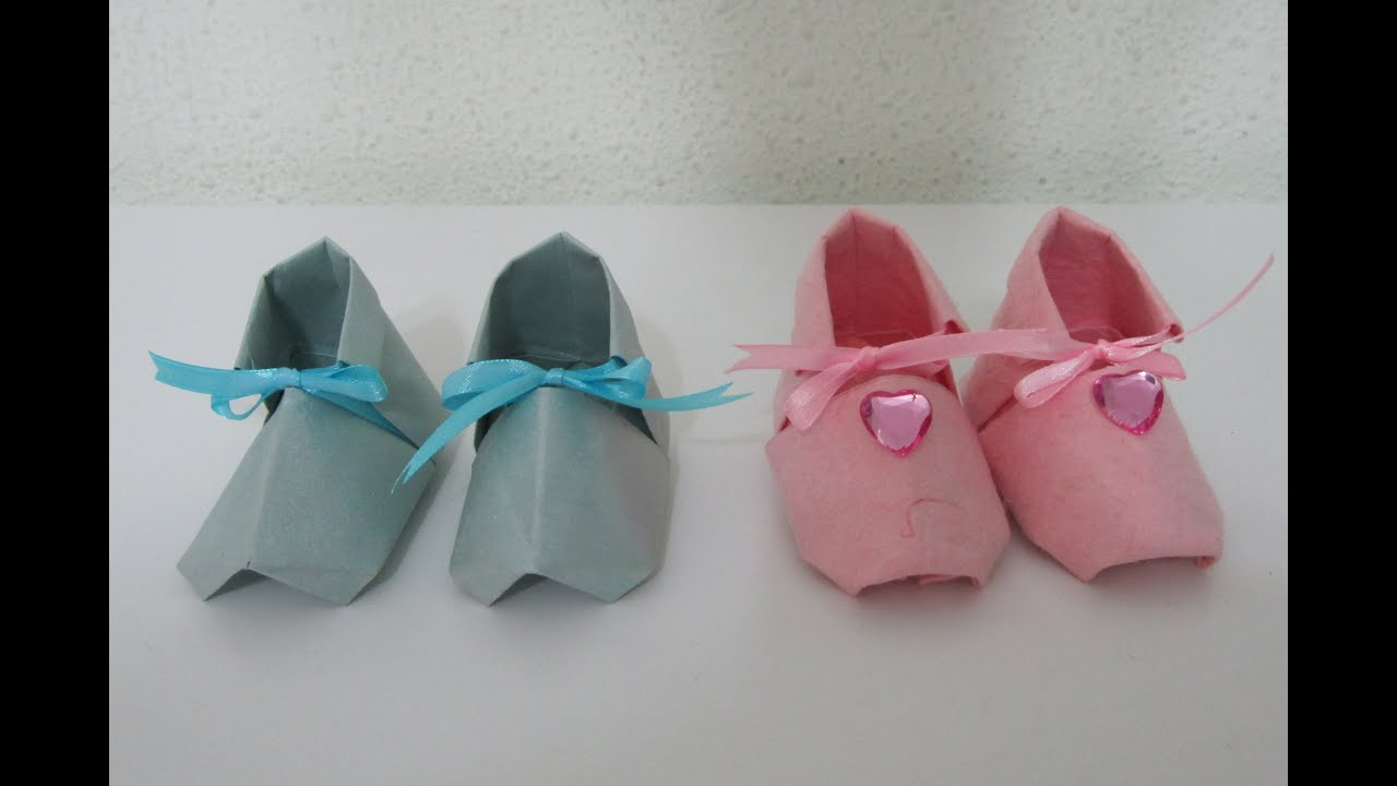 tutorial cute origami baby shoes youtube