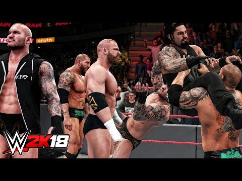 WWE 2K18 - Evolution Trio Entrance & Batista Bomb Into RKO!