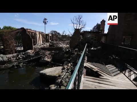 Fire destroys German TV host's Malibu, Calif. home