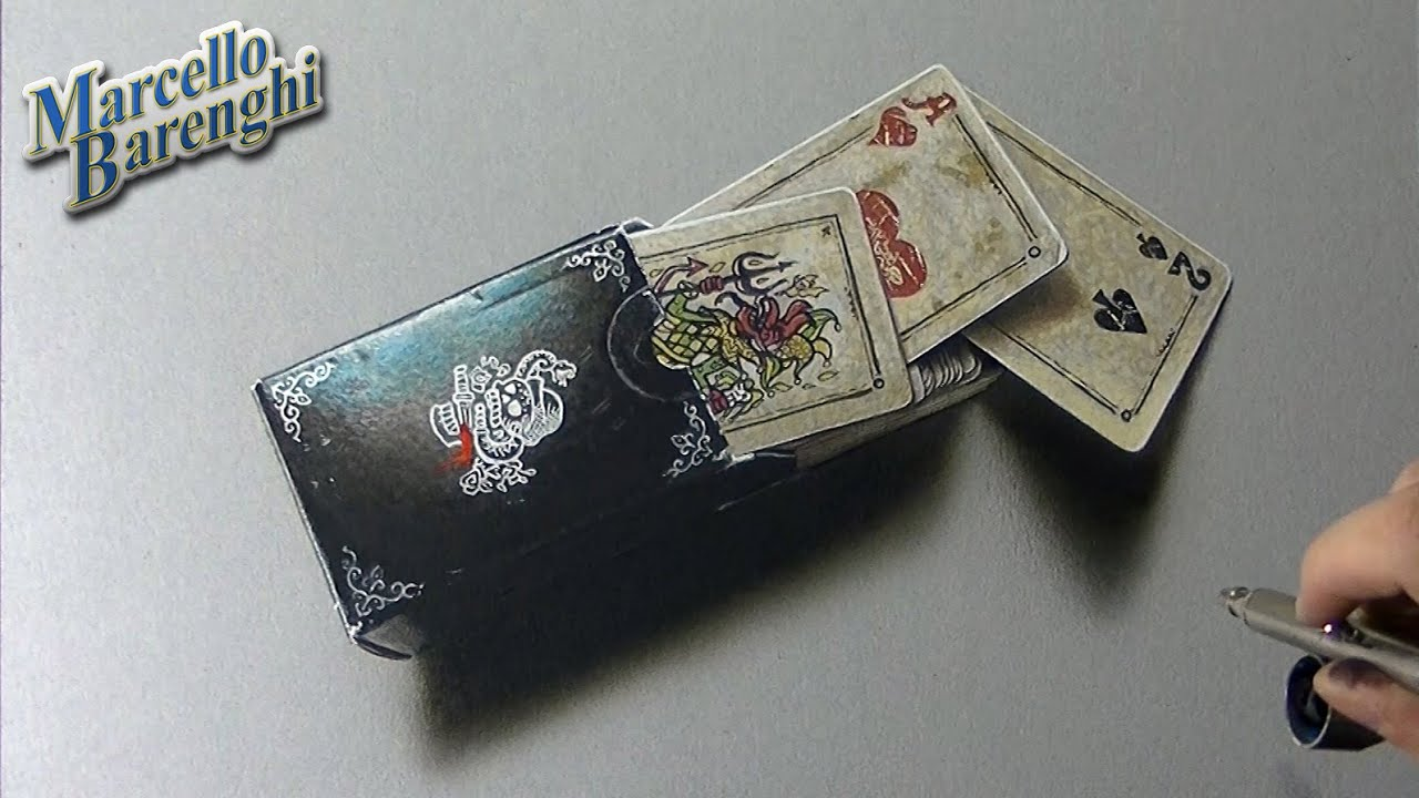 3D Drawing  - Red Dead Redemption Playing Cards