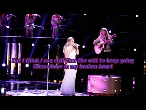 Lauren Duski  Somewhere In My Broken Heart The Voice Performance  Lyrics