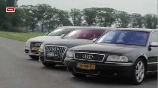 Audi S8: 3 generations sound & driving!