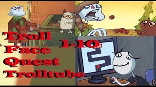TrollFace Quest Trolltube Niveles 1-10