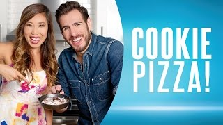 Cookie Pizza (Healthy Dessert Recipe) ft. Kenny Florian & Blogilates