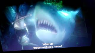 Finding Nemo Bruce screams like Squidward