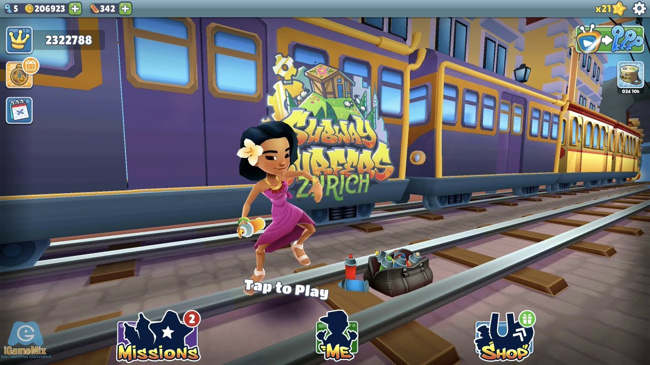 iGameBox🤠NOON PINK Outfit  SEASON WORD HUNT│SUBWAY SURFERS ZURICH HD FULLSCREEN #17