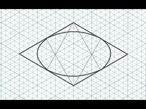 How To Draw A Circle In Isometric Drawing Youtube