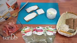 Рецепт бутербродов с заправкой на основе белкового микса ванильного Active Life TianDe.