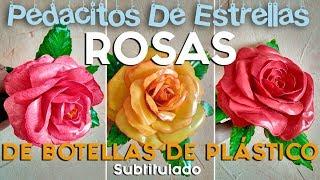ROSAS HECHAS CON BOTELLAS PLÁSTICAS, VÍDEO MEJORADO. Manualidades recicladas