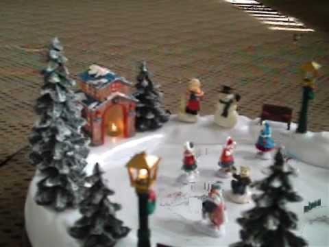 Musical Animated Christmas Skating Pond.