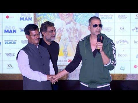 Akshay Kumar meets Real Padman (Arunachalam Muruganantham)   Reel Padman with Real Padman