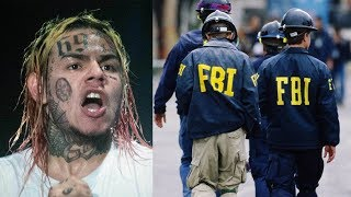 6ix9ine Arrested & Facing Life after FEDS Allege Involved in Shootings, Robberies & Racketeering