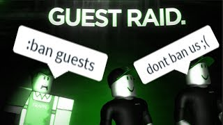 ROBLOX Raiding comme GUESTS (BANNED 2 TIMES)
