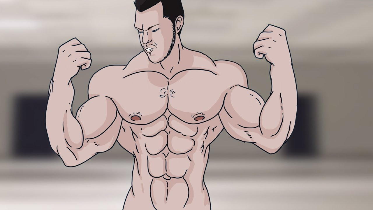 Muscle growth animation