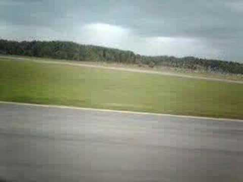 Ryanair flight take off from Gothenburg City