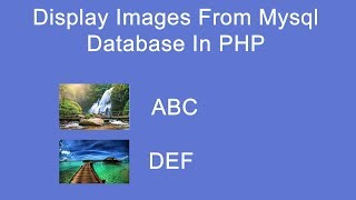 display image from mysql database in php