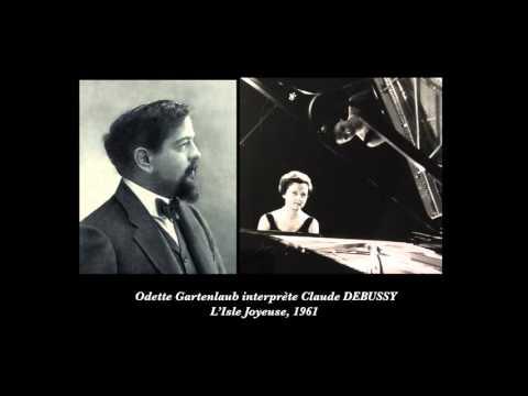 Odette Gartenlaub interprète DEBUSSY : L'Isle Joyeuse, 1961