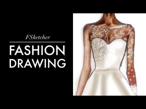 WEDDING DRESS Fashion Drawing Tutorial