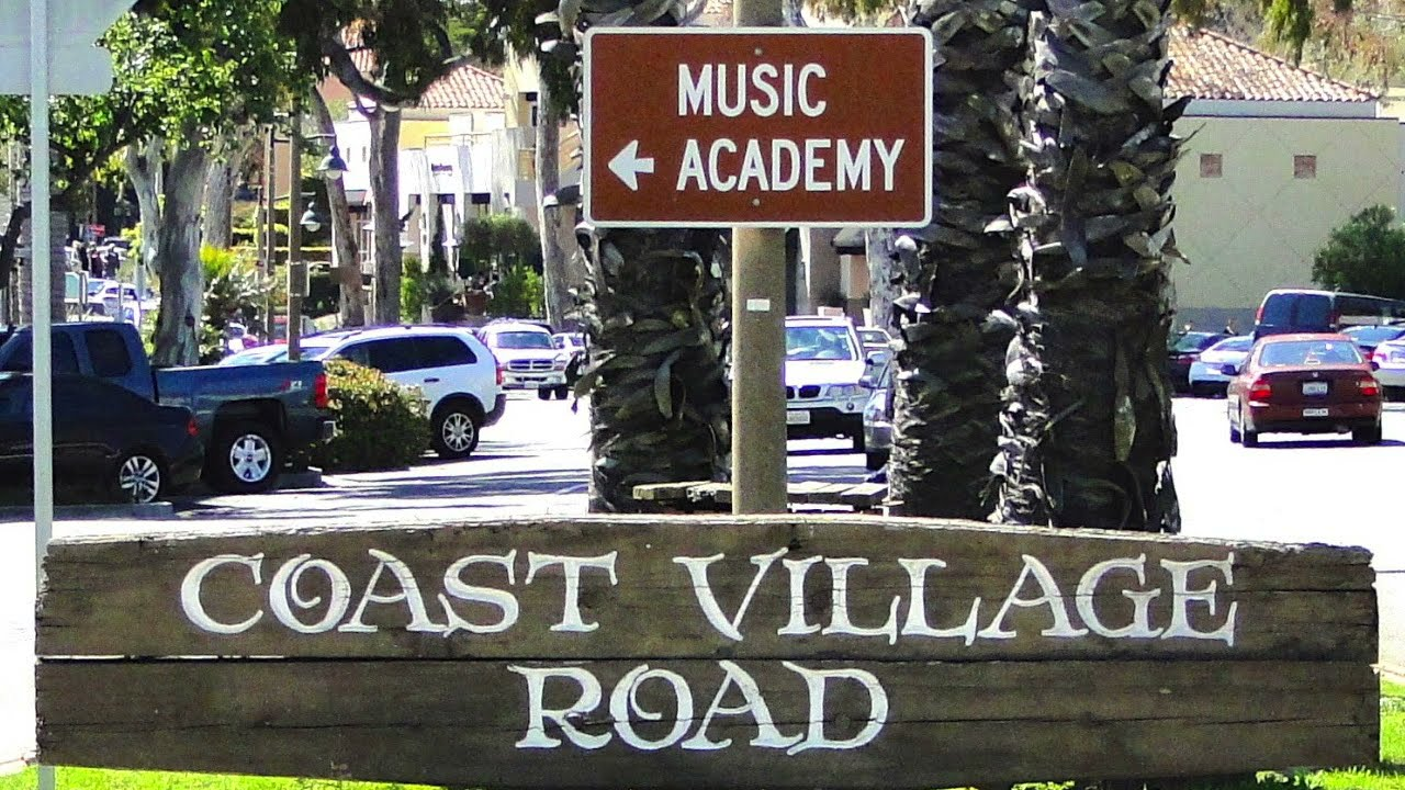 Coast Village Road in Montecito, California