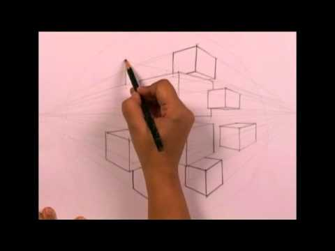 Product Drawing Cubes (2 Point Perspective) by Reenu Singh
