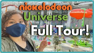 Nickelodeon Universe Full Tour - Indoor Theme Park | with Ride POVs | American Dream Mall NJ