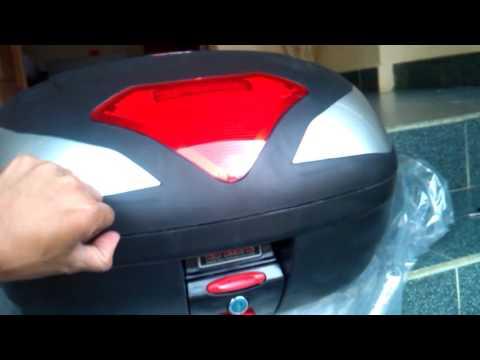 JUAL BOX MOTOR KMI TIPE 902 48 LITER JUMBO BOX BESAR BANGET MUAT 2 HELM