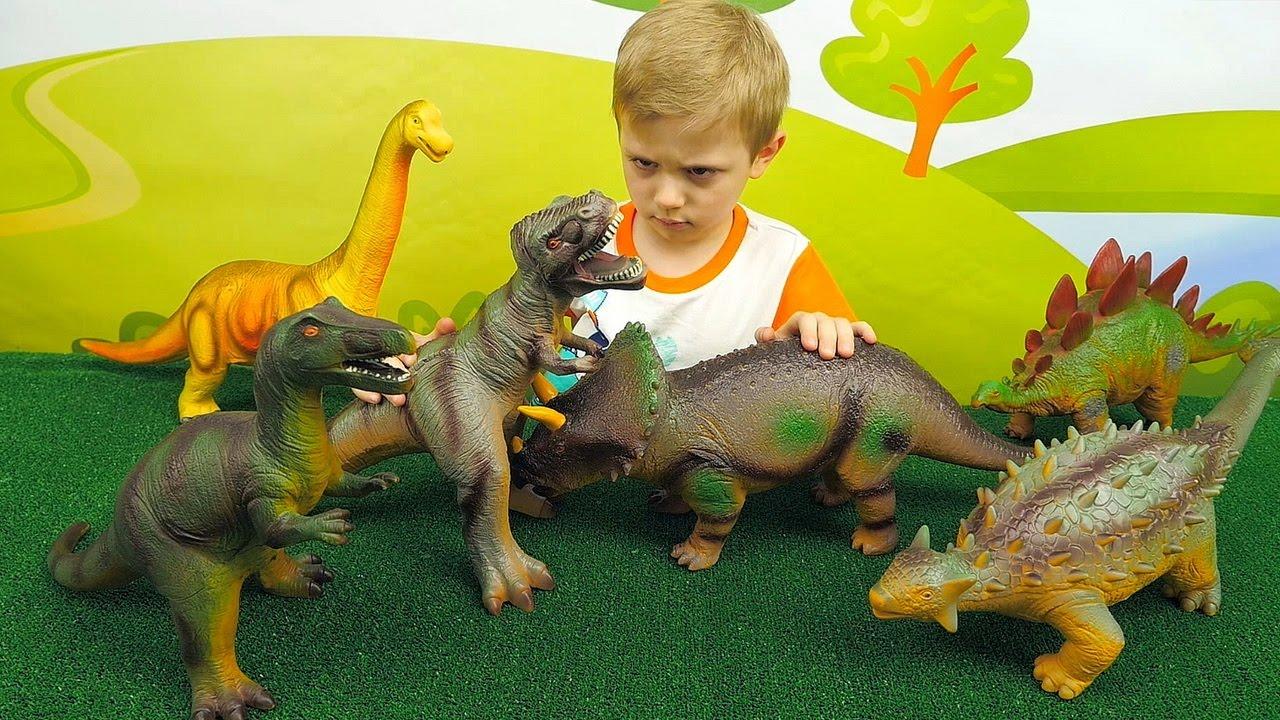 Битва Динозавров - Хищники против Травоядных - Видео для детей. Dinosaurs for Kids
