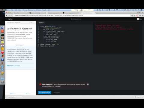 [10310QF100200] codecademy 第19關 introduction to classes