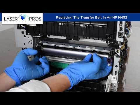 Installing The Transfer Belt In An Hp M452 Youtube
