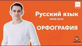 Орфография | РУССКИЙ ЕГЭ 2019 | Мини-урок | УМСКУЛ
