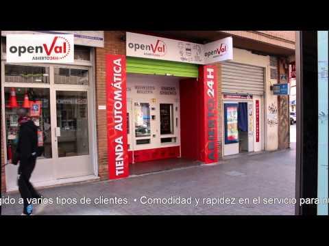 tiendas vending 24 horas OPENVAL en zona tráfico de Valencia