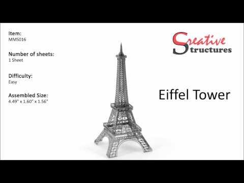 Quebra cabeça de Metal 3D Torre Eiffel, França