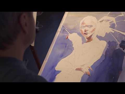 Мастер - класс по акварели  Андрей Есионов  master-class on watercolor Andrey Esionov