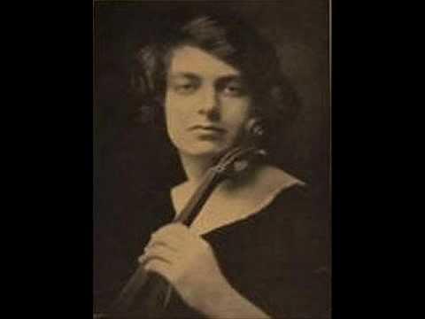 Manuel de Falla: Danza española - Isolde Menges, Violin