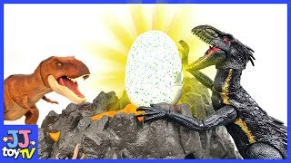 Indoraptor Steel T-Rex' Eggs. Jurassic World Dinosaurs Toy For Kids [Jjtoy Tv]