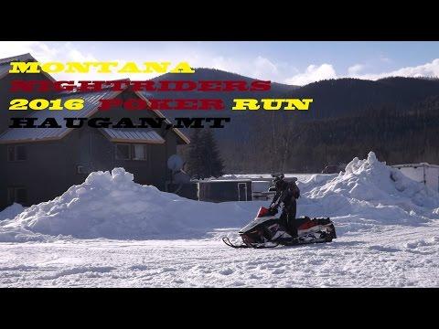 Montana NightRiders Snowmobile Club POKER  RIDE 2016