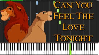 Can You Feel The Love Tonight - The Lion King [Piano Tutorial] (Synthesia) // PianoMavs