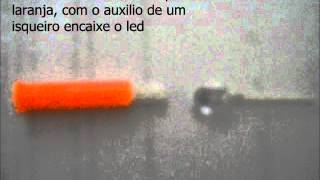 como fazer luminoso para ponta de vara de pesca