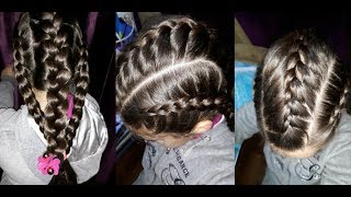 Three easy, quick and beautiful braid hairstyles